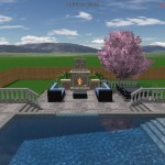 Lovely view from the 3D pool with mountains in backyard