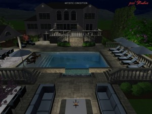 Our 3D night time rendering