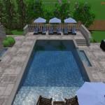 3D Render of cabanas