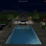 Entertain by the 3D Pool