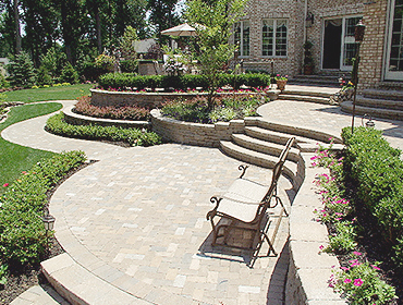 Nice Reston Virginia Stone Patio Job and Hardscape