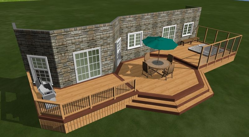 3d deck project for Patio plans and designs