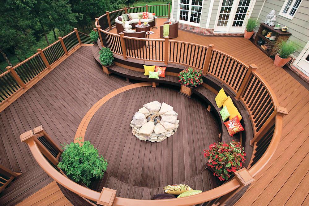Circular Wood Deck