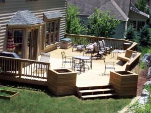 Deck Remodeling In Backyard
