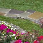 Stone Walkway Curving Garden Shot