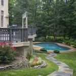 Oakton VA Stone Walkway Design and Construction Curve Around House