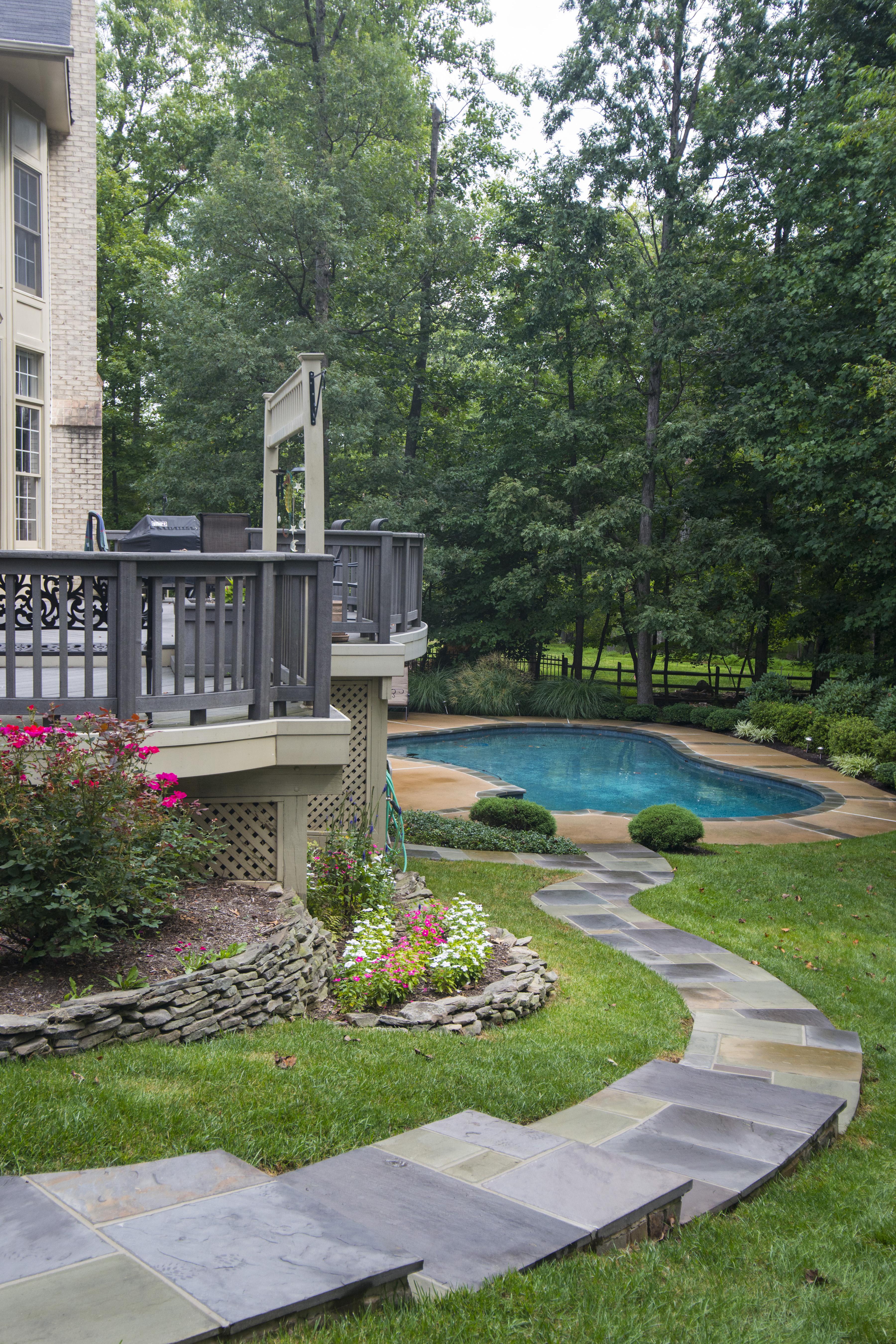 Oakton Va Stone Walkway Design And Construction Curve