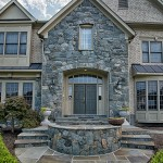 Oakton VA Stone Walkway Design and Construction Front Close Medium Shot