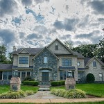 Oakton VA Stone Walkway Design and Construction Front Home Wide Shot