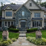 Oakton VA Stone Walkway Design and Construction Front of Home