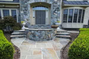 Oakton VA Stone Walkway Design and Construction Tight Shot