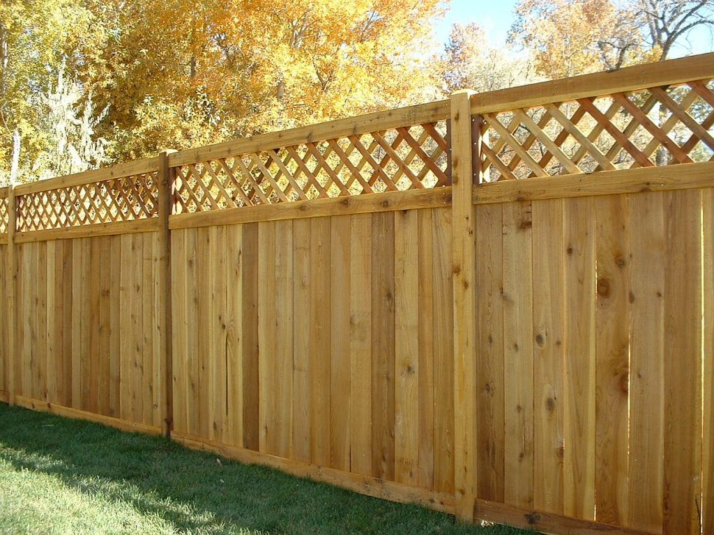 Wooden Fence Example North VA Loudoun County